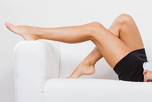 Woman with Clean Legs